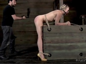 ball gagged blondie punished