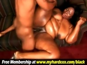 BBW Ebony Hottie Fucked and Jizzed On! free