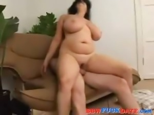 Busty brunette like anal and facial