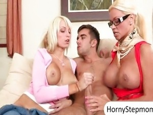 Busty blondes Rikki Six and Nikita Von James