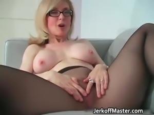 Sexy MILF Nina Hartley stripping part2