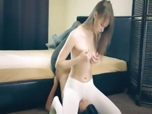 Amazing hot girl4girl in pantyhose