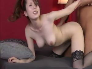 Big titted japanese milf bounces on cock while wearing stockings free