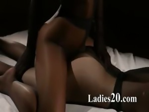 Panty suits performed by two girl4girl