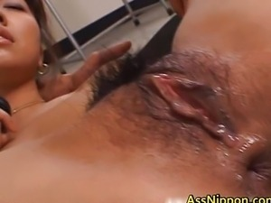 Hairy pussy and tight asshole