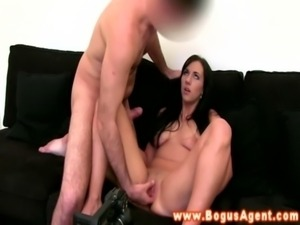 Fake casting agent gets a blowjob free