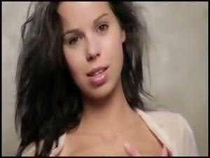 True longhaired brunette beauty chick
