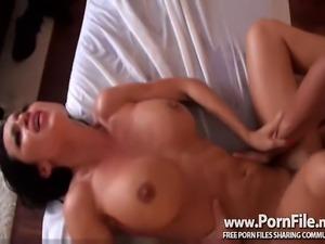 Busty Brunette Hottie Massage