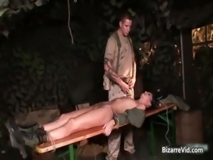Two hot sexy horny army slut gets part2