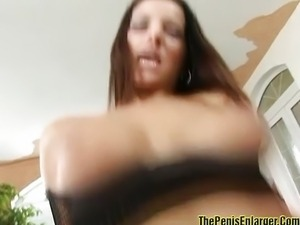 Cream pie for big tits