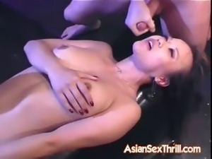 Oriental babe facial after extreme fuck