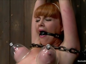 brutal pussy torture in a dark room
