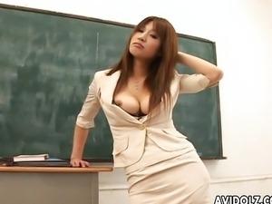 Hot busty Ai Kurosawa dirty teacher plays dirty