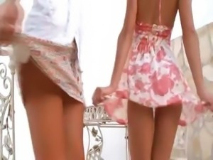 Two american chicks naked outdoor