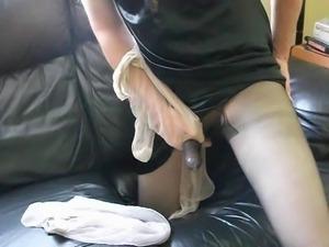 Pantyhose with sheath and cum