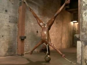 oiled ebony sex slave