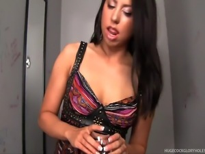 Fingering herself almost to the point of orgasm, Alexa wishes for a cock and...