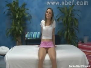 Kara gets her clothes off. Massage free