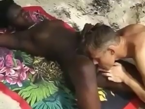 Interracial Outdoors Fuck in Africa