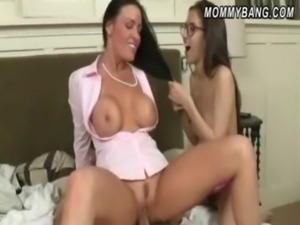 Teen April Oneil shares BFs cock with her horny stepmom free