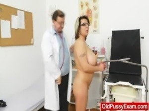 Huge natural melon size titties at obgyn physician free