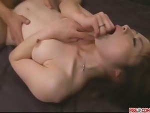 Amateur Japanese chick Hojo Maki man-handled and pounded