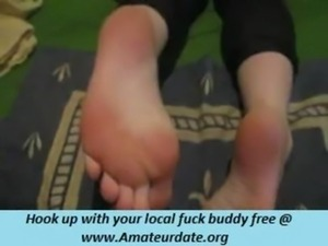 sperm all over her feet free