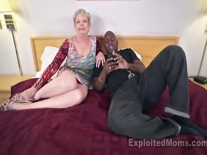Big Tit Gilf fucks black cock and gets filled with cum in creampie video