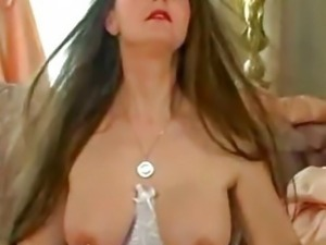 German Babe  Plays With Her Large Pierced Nipples 2 bdsm bondage slave femdom...