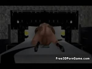 Foxy 3D cartoon blonde babe sucks and fucks a stud free