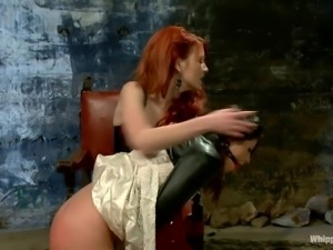 devilish redhead and her obedient girl