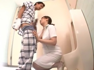 nurse gives a private treatment