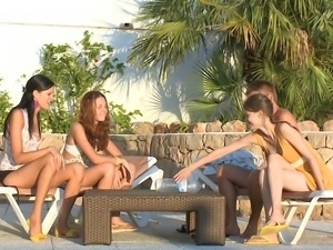 mia, beata, vika and one lucky guy