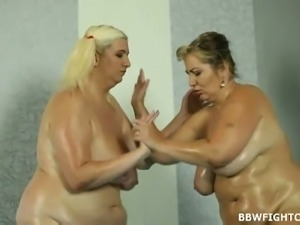 Oiled fatties on the mat