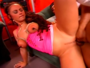 Fetish redhead MILF gets her pussy punished and then fucked by a big black...