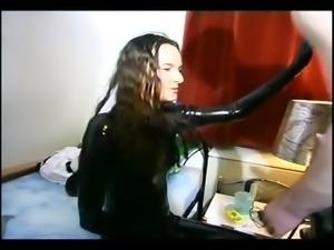 Cute slave girl likes to take it deep