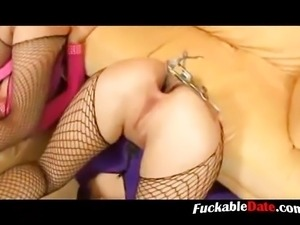 Lesbian Blonde Mistress Eat Cum From Pussy