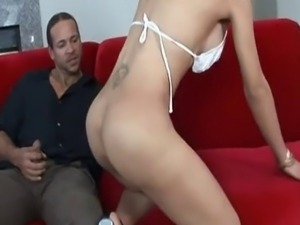 Sexy Shemale Interviews for Babysitter Job