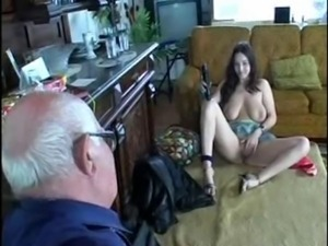 RUSSIA Old Man & Young Slut Girl 001