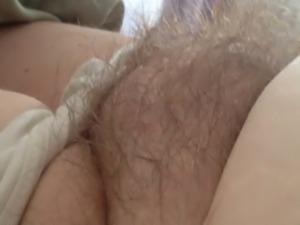 wifes ripe nipple & soft hairy bush.