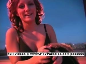 Melissa tender woman woman flashing