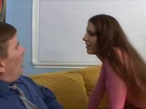 Older stepdad licks skank's sweet asshole before fucking her