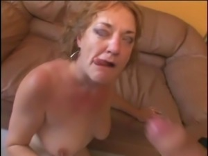 chubby mature  is sucking cock