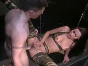 Hot Fucking For A Bitch In The Army