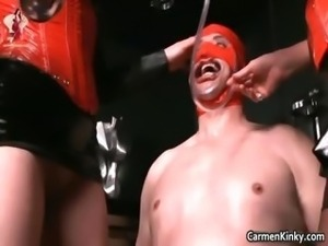 Kinky dude is sex slave to weird part5
