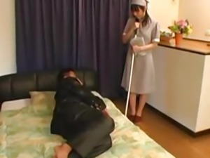 Anal sex with the Japanese maid