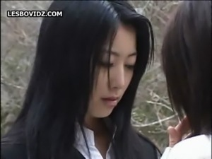 Asian Teen Lesbian Schoolgirls Duo Action free