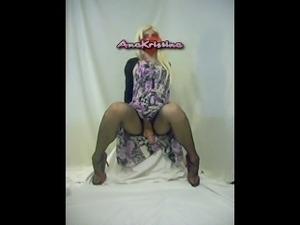 AnaKristina - Hot blond has something under the dress