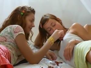Insane russian lesbo vagina eating