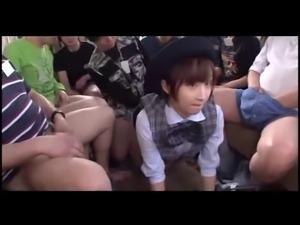 Bukkake session with JAV Idol Ayumi Kimino